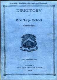 Directory of Leys School, Cambridge, 1912