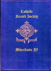 Image unavailable: Catholic Registers Miscellania IV