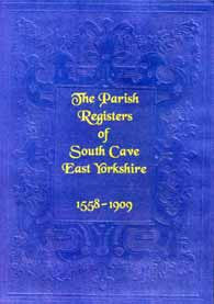South Cave Parish Registers 1558-1909