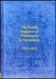 Parish Registers of Whittington, Shropshire