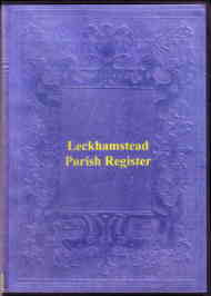 Leckhamsted Parish Register