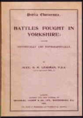 Image unavailable: Battles Fought in Yorkshire