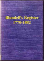 Image unavailable: Blundell's Register 1770-1882 Tiverton Devon
