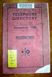 Telephone Directory December 1942: Personnel in Military Installations