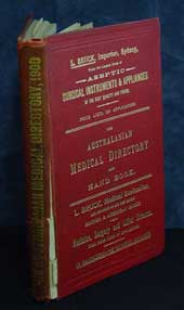 The Australasian Medical Directory and Hand book 1900