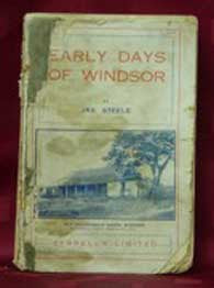 Early Days of Windsor - J. Steele