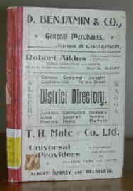 District Directory of Albury and Regions Around 1901