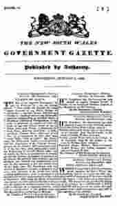 New South Wales Government Gazette 1833