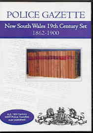 New South Wales Police Gazette 19th Century Set 1862-1900
