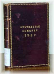 Image unavailable: Ford's Australian Almanac 1852