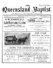 Image unavailable: Queensland Baptist 1903-1913