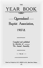 Image unavailable: Queensland Baptist Year Books 1907-20