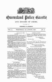 Queensland Police Gazette 1864-66