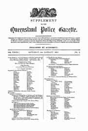 Queensland Police Gazette 1902
