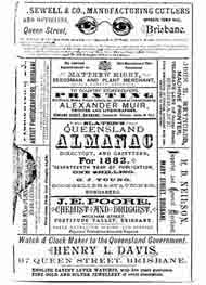 Slaters Queensland Almanac 1882