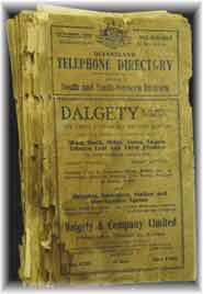 Queensland Telephone Directory 1936- South and South Western Districts