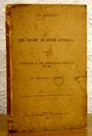 An Account of the Colony of South Australia - F. Sinnett