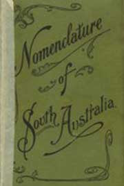 Nomenclature of South Australia - R. Cockburn