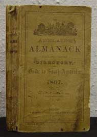 Adelaide Almanack, Town and Country Directory and Guide to South Australia 1867 (Boothby)
