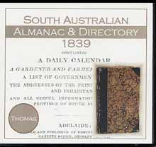 Image unavailable: South Australian Almanac and Directory 1839 (Thomas)