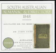 South Australian Almanac and Directory 1848 (Stephens)