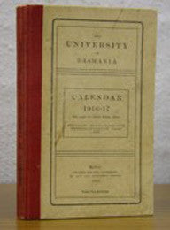 Calendar of the University of Tasmania 1916-17