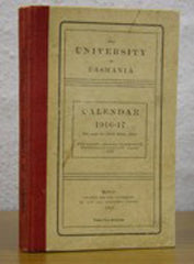 Image unavailable: Calendar of the University of Tasmania 1916-17