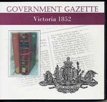 Image unavailable: Victorian Government Gazette 1852
