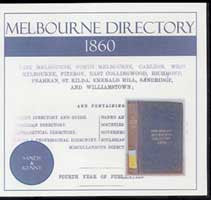 Image unavailable: Melbourne Directory 1860 (Sands and Kenny)