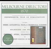 Image unavailable: Melbourne Directory 1870 (Sands and McDougall)