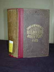 Image unavailable: Melbourne Directory 1875 (Sands & McDougall)