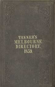 Tanner's Melbourne Directory for 1859