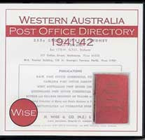 Image unavailable: Western Australia Post Office Directory 1941-42 (Wise)