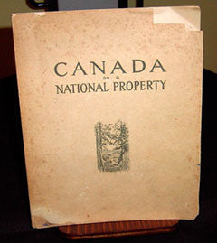 Canada as a National Property, Canadian government publication in 1926