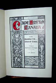 Cape Breton, Canada, at the Beginning of the Twentieth Century - published 1903
