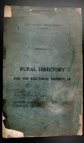 Rural Directory for the Electoral District of  Lincoln, Ontario - January 1929