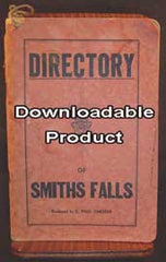Directory of Smiths Falls, Ontario c1948 (has household  and business entries, etc., & a map) (by Download)