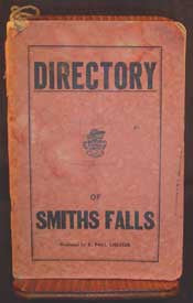 Directory of Smiths Falls, Ontario c1948 (has household  and business entries, etc., & a map) (on CD)