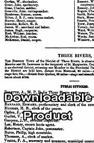 The Canada Directory 1853/54 (by Download)