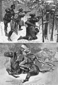 On Canada's Frontier - 1892 (Many illustrations credited to Frederic Remington)