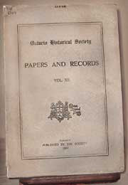 Papers & Records Vol. XII (1914), Ontario Historical Society
