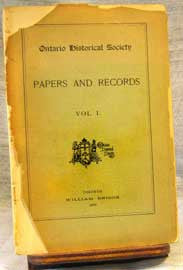 Papers & Records Vol. I (1899), Ontario Historical Society