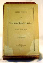 Collections of the Nova Scotia Historical Society 1893 - 95, Vol IX