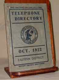 Nova Scotia Eastern District Telephone Directory 1922 (about 5,600  listings )