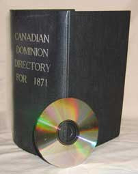 Lovell's Canadian Dominion Directory - 1871  (New Brunswick section)