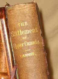 History of the Settlement of Upper Canada (Ontario) - 1869. By William Canniff.