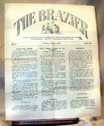 "The Brazier - 1 April 1917 - A ""Trench Journal"" printed and published at the front."