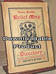 Nova Scotia Relief Map & Directory - 1931 (by Download))