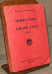 Image unavailable: McGill University, Directory of Graduates 1946