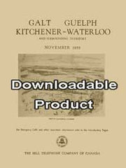 Galt, Guelph, Kitchener-Waterloo, Telephone Directory - November, 1958 (by Download))